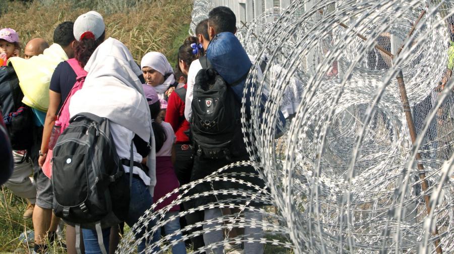 Imigranci na serbsko-węgierskiej granicy