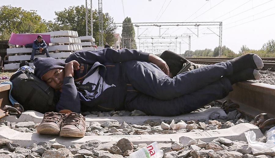 Uchodźca na granicy chorwacko-serbskiej