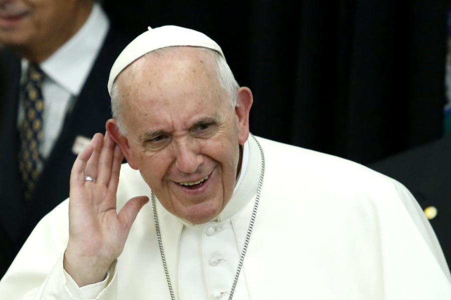 Papież Franciszek podczas wizyty w USA