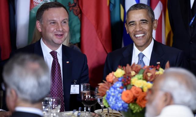 Prezydent Duda przy jednym stole z Obamą i Putinem. \