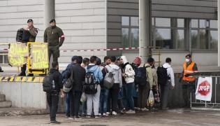 Imigranci na węgierskiej granicy
