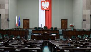 Sejm. Pusta sala posiedzeń