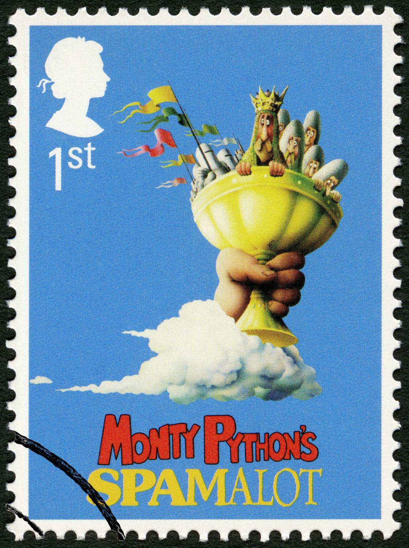Brytyjski znaczek pocztowy upamiętniający film \