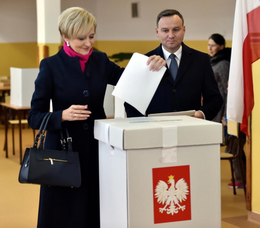 Prezydent Andrzej Duda z żoną, Agatą