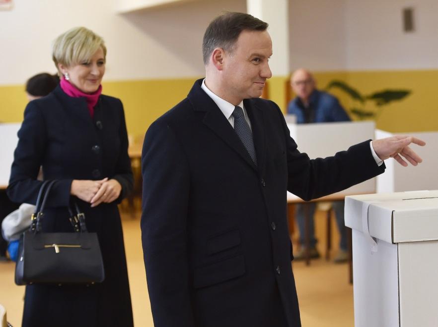 Agata Kornhauser-Duda i Andrzej Duda