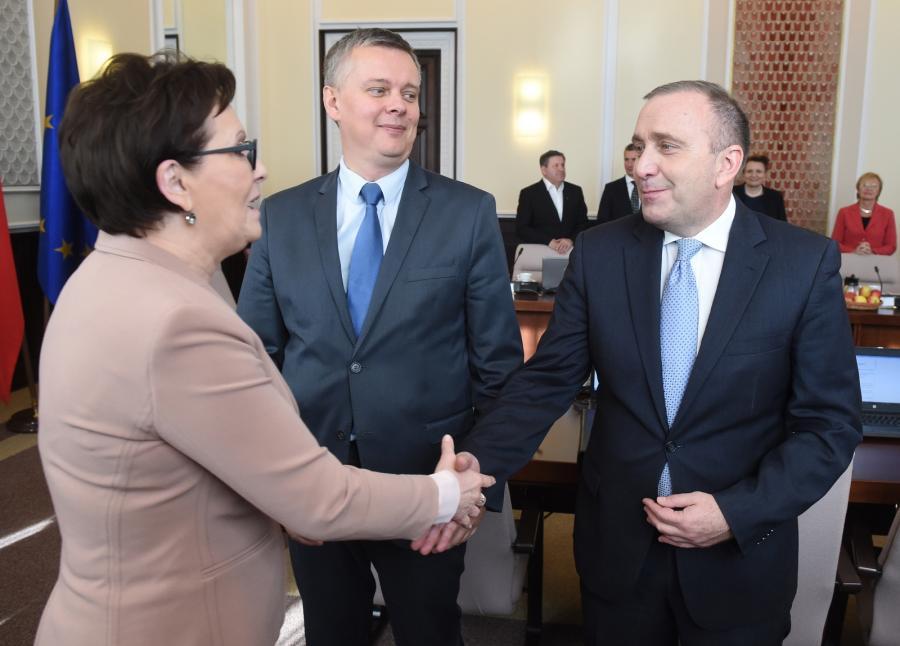 Ewa Kopacz, Tomasz Siemoniak i Grzegorz Schetyna