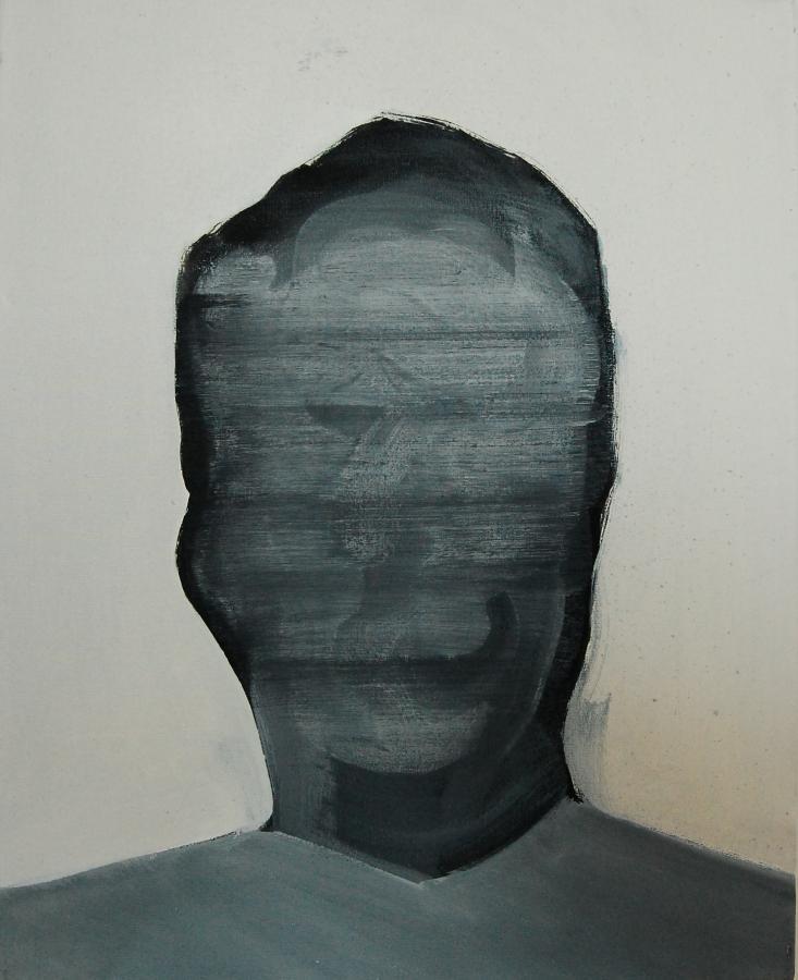 """""""Szkice do portretu 21"""", Cezary Bednarczyk, olej na płótnie, 50x40 cm"""