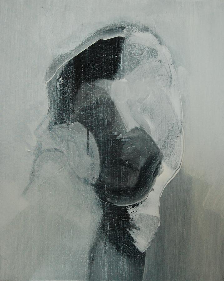 """""""Szkice do portretu 36"""", Cezary Bednarczyk, olej na płótnie, 50x40 cm"""