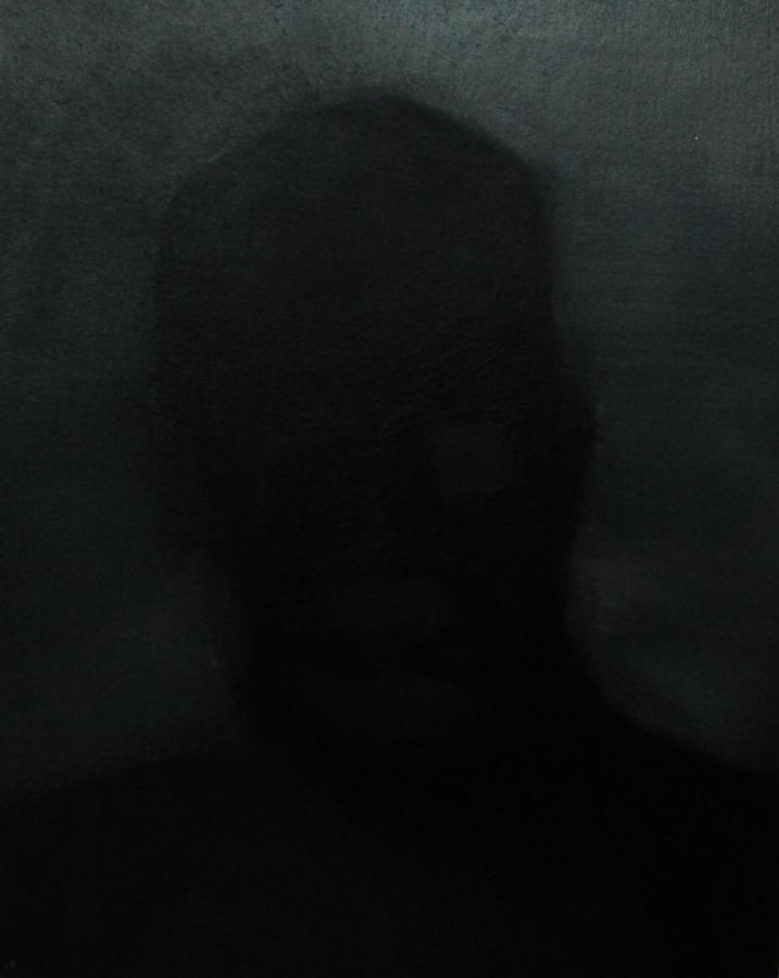 """""""Szkice do portretu 42"""", Cezary Bednarczyk, olej na płótnie, 50x40 cm"""