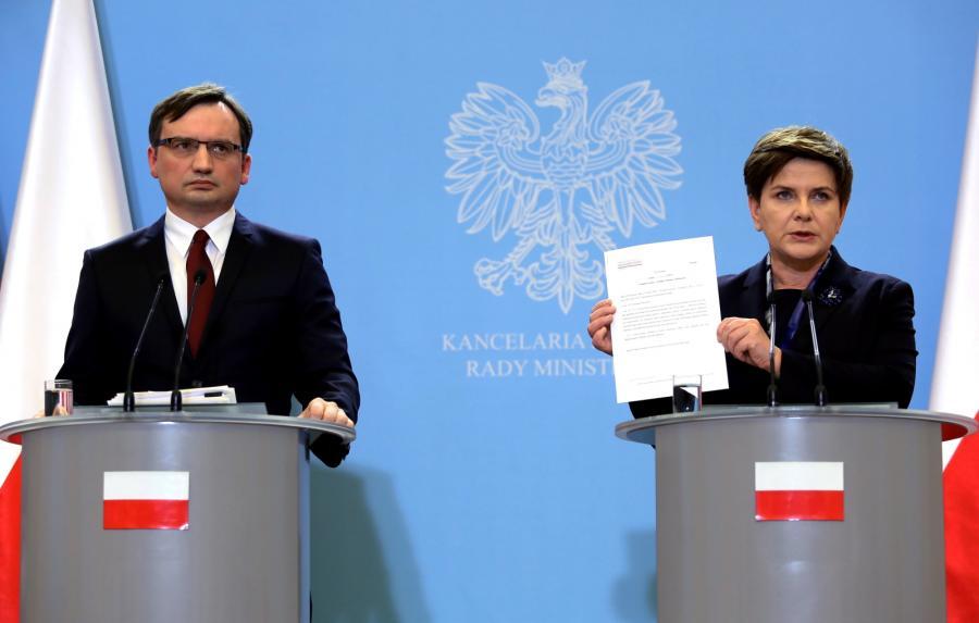 Premier Beata Szydło i minister sprawiedliwości Zbigniew Ziobro