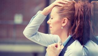 Zestresowana kobieta