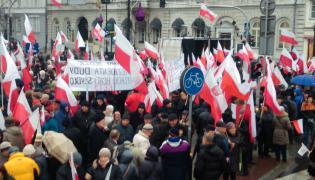 """Uczestnicy marszu """"Wolności i Solidarności"""""""