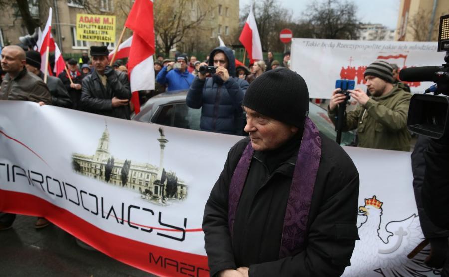 """Protest przed siedzibą """"GW"""""""
