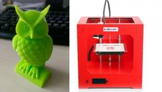 Sowa wydrukowana techniką 3D, drukarka firmy Dexer