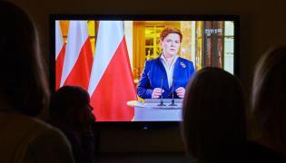 Premier Beata Szydło wygłasza orędzie