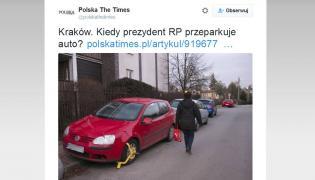 """Kiedy prezydent Andrzej Duda przestawi auto? - zastanawia się """"Gazeta Krakowska"""" i """"Polska The Times"""""""