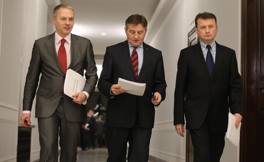 Jacek Żalek, Marek Kuchciński i Mariusz Błaszczak