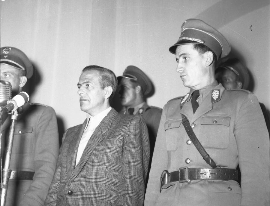 Kraków 30.08.1956. Sąd Wojewódzki w Krakowie. Proces Władysława Mazurkiewicza