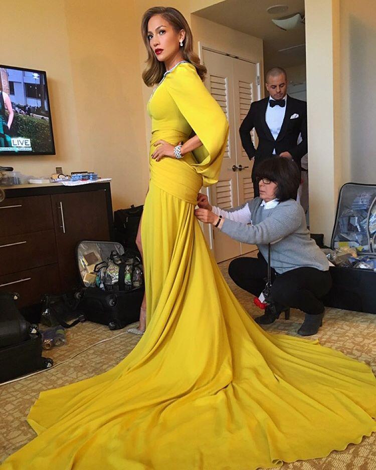 Jennifer Lopez na chwilę przed wielkim wyjściem