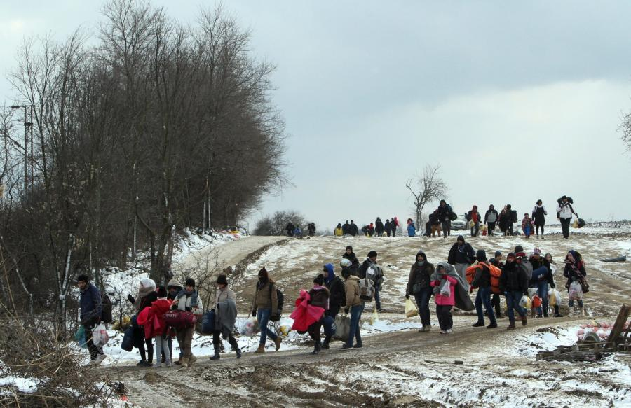 Uchodźcy na granicy serbsko-macedońskiej