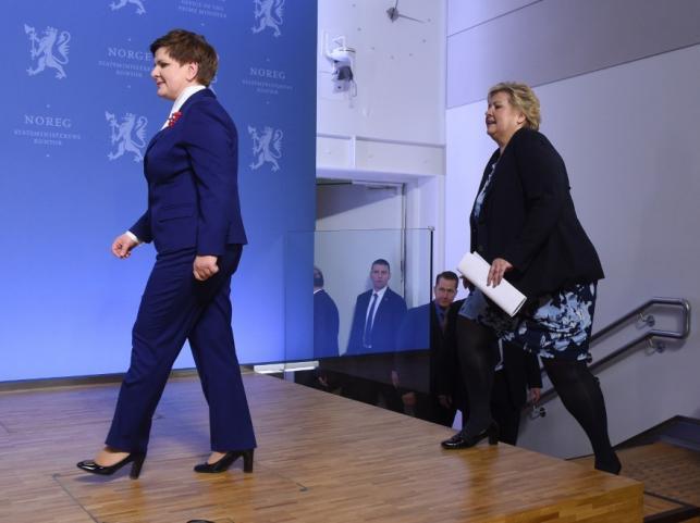 Beata Szydło i Erna Solberg