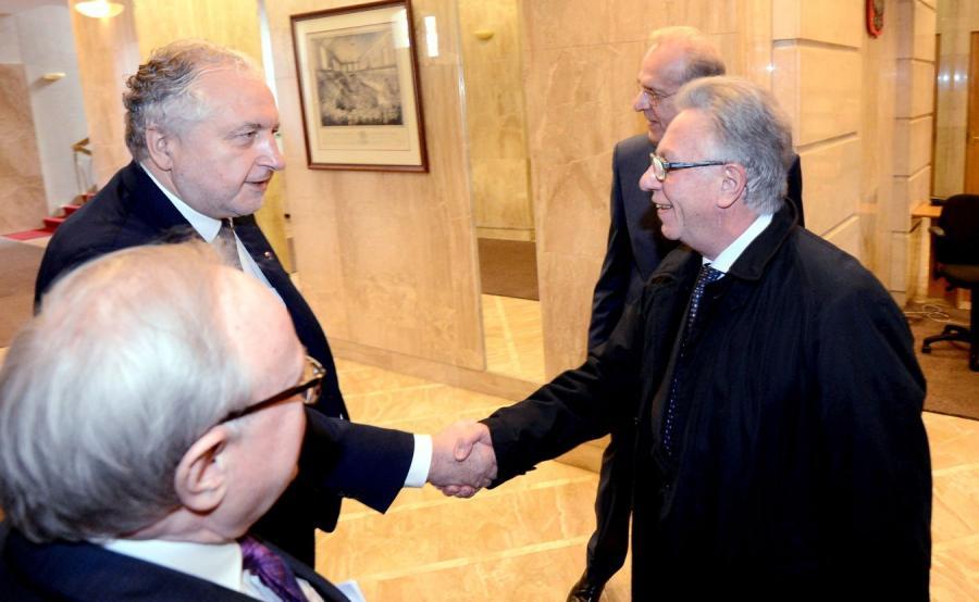 Prezes TK prof. Andrzej Rzepliński oraz przewodniczący Komisji Weneckiej Gianni Buquicchio