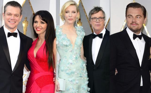 Matt Damon i Luciana Barroso na Oscarach