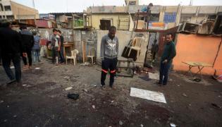 Miejsce zamachu samobójczego w Bagdadzie