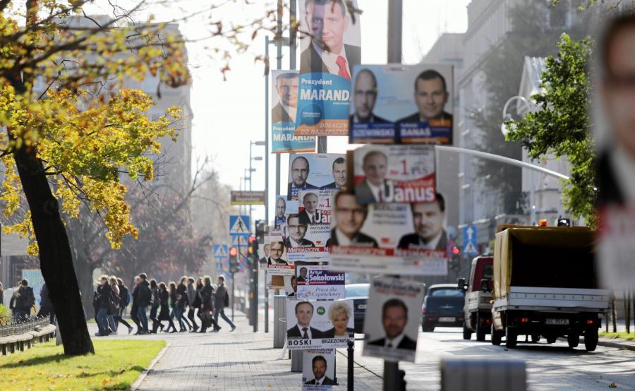 Częstochowa. Plakaty samorządowej kampanii wyborczej z 2014 roku