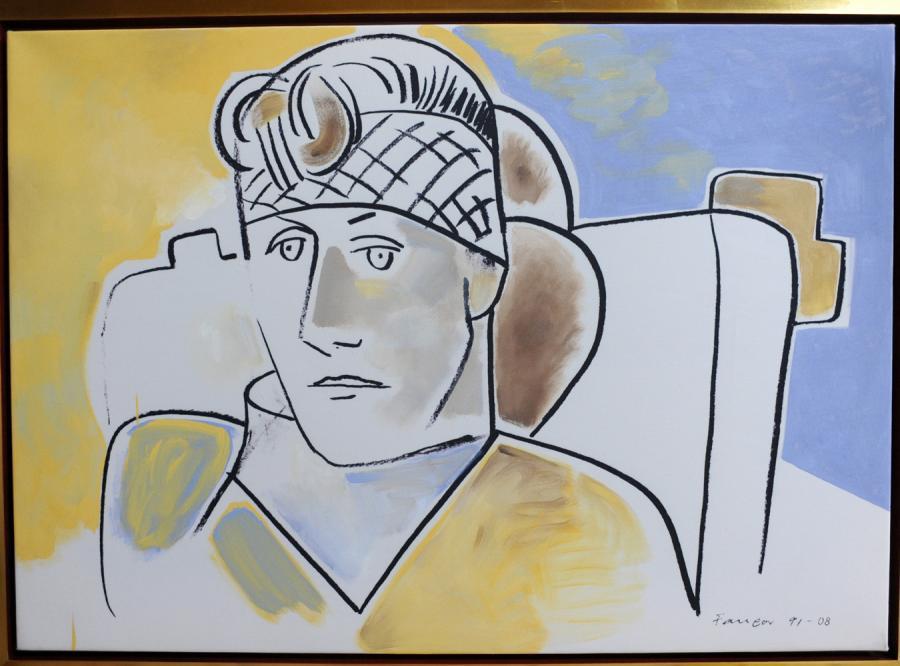 Portret namalowany przez Wojciecha Fangora