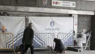 Wejście do stacji metra Maalbeek w Brukseli
