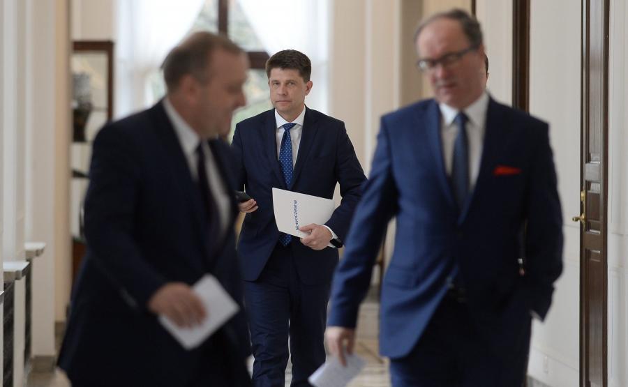 Włodzimierz Czarzasty, Ryszard Petru i Grzegorz Schetyna