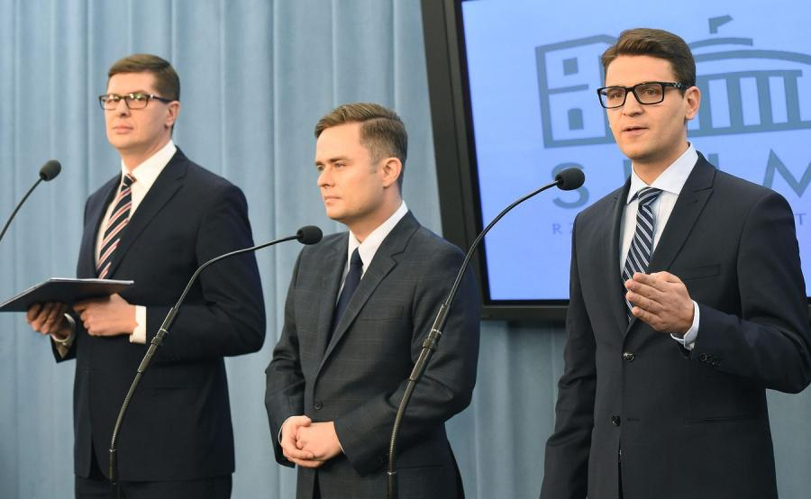 Adam Rogacki, Adam Hofman i Mariusz A. Kamiński