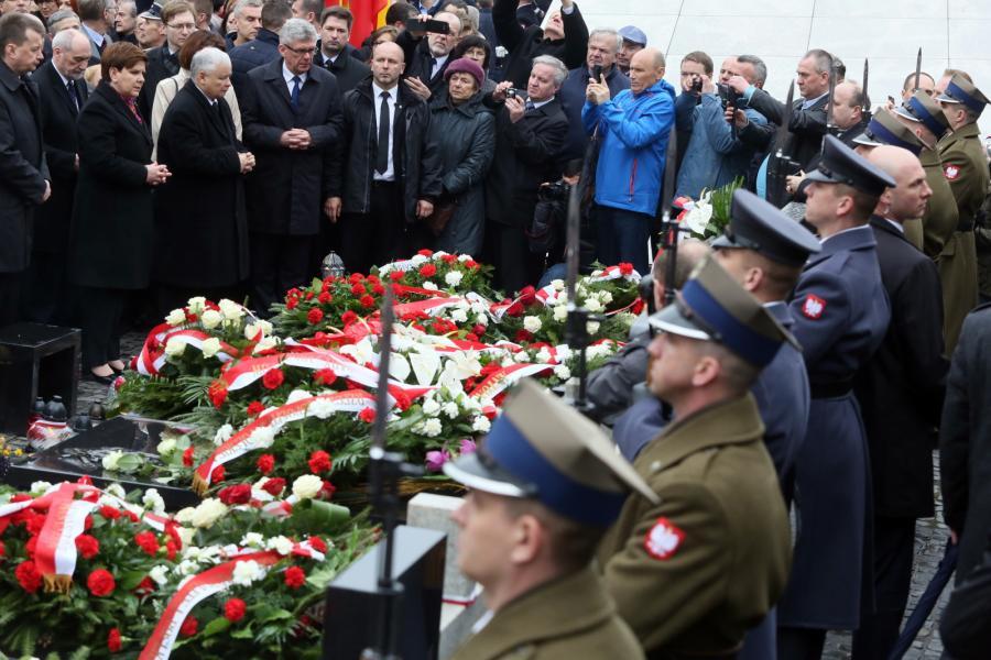 Uroczystości na cmentarzu powązkowskim