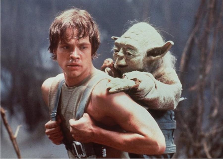 A tak mistrz Yoda trenował Luke\'a Skywalkera