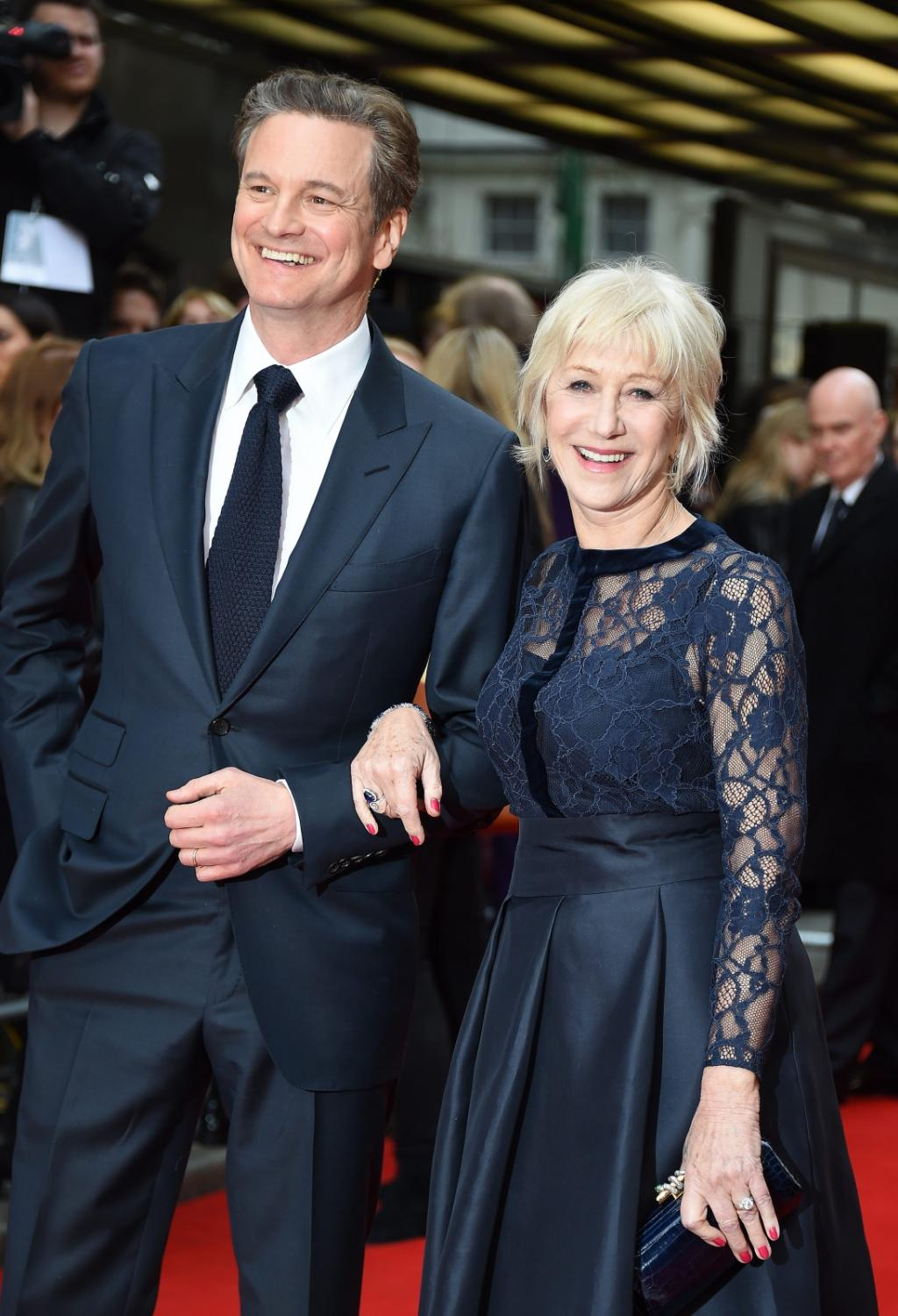 "Helen Mirren i gość na premierze ""Eye in the Sky"" – Colin Firth"