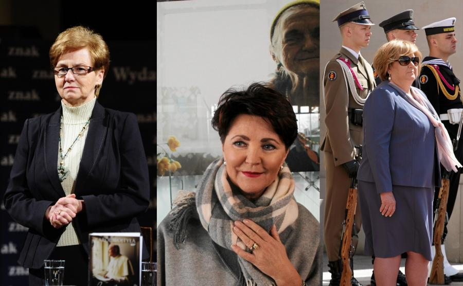 Danuta Wałęsa, Jolanta Kwaśniewska i Anna Komowska