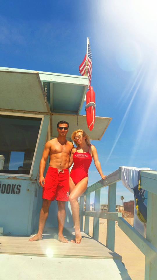 Doda na plaży w Los Angeles