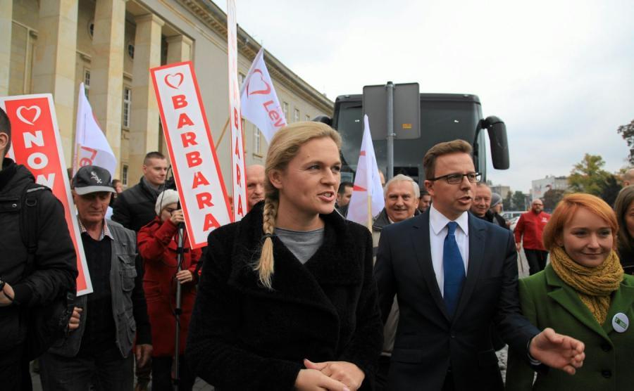 Barbara Nowacka i Dariusz Joński