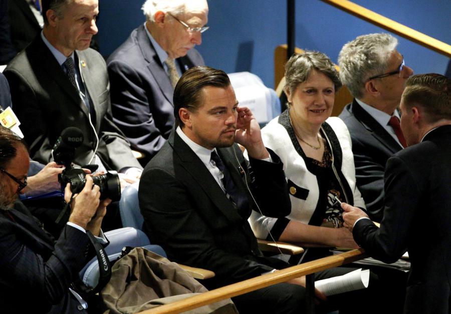 Leonardo DiCaprio na forum ONZ w Nowym Jorku