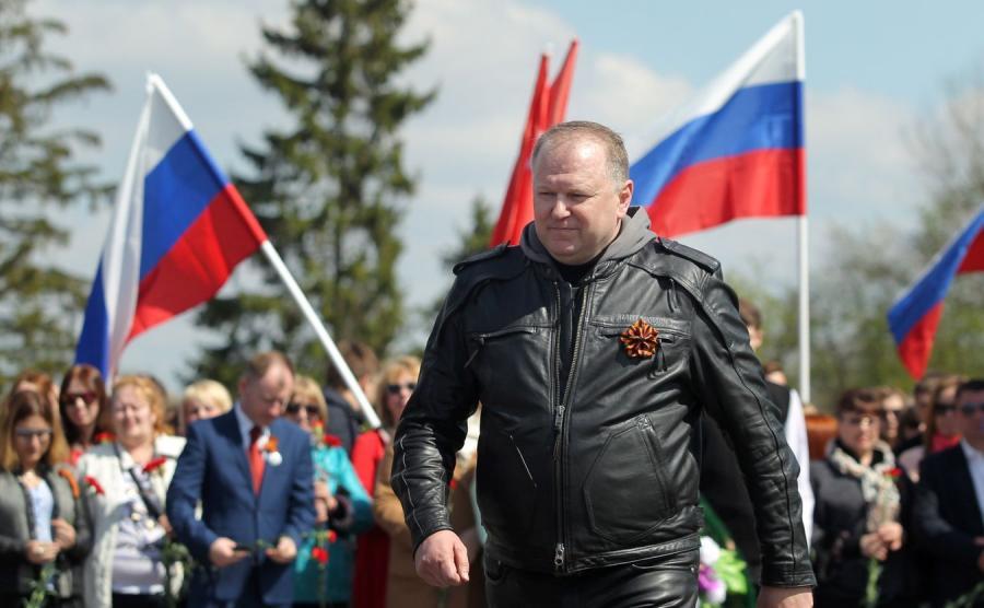Gubernator Obwodu Kaliningradzkiego Nikołaj Cukanow w Braniewie