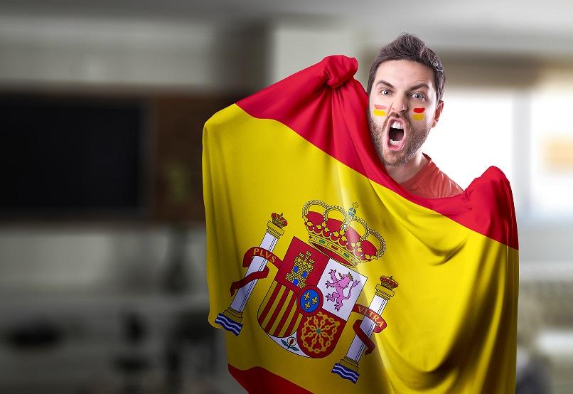Kibic reprezentacji Hiszpanii