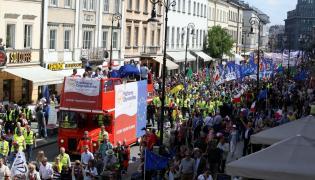 Marsz opozycji w Warszawie
