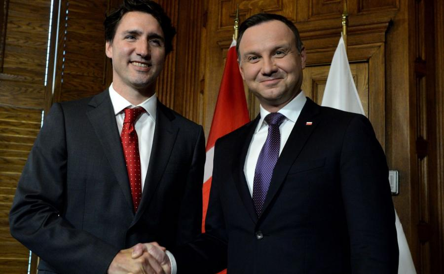 Justin Trudeau i Andrzej Duda