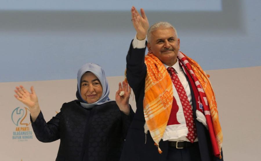 Binali Yildirim z żoną
