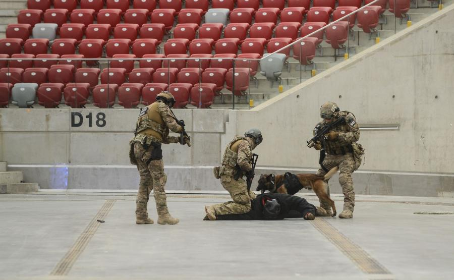 Pokaz wyszkolenia Oddziału Specjalnego Żandarmerii Wojskowej