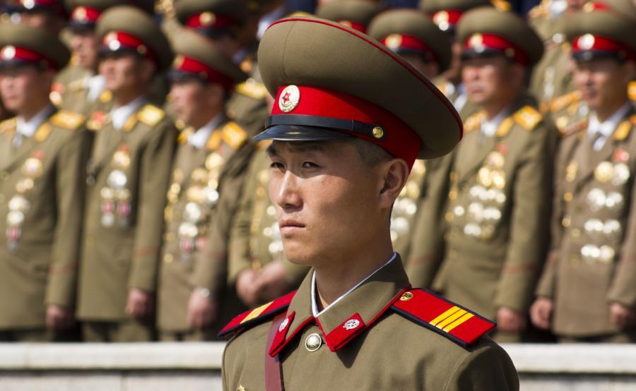 Żołnierz północnoreański w Pjongjangu