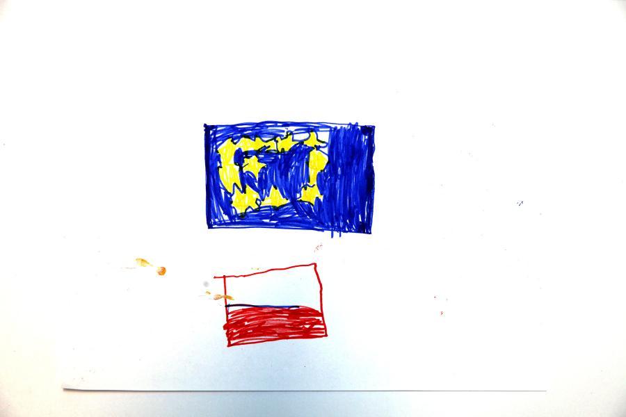 Autor rysunku: Piotr Czerwonka, lat 7