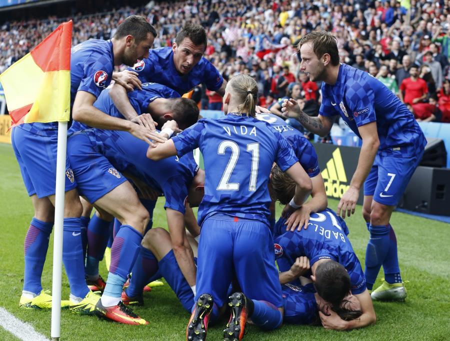 Radość chorwackich piłkarzy