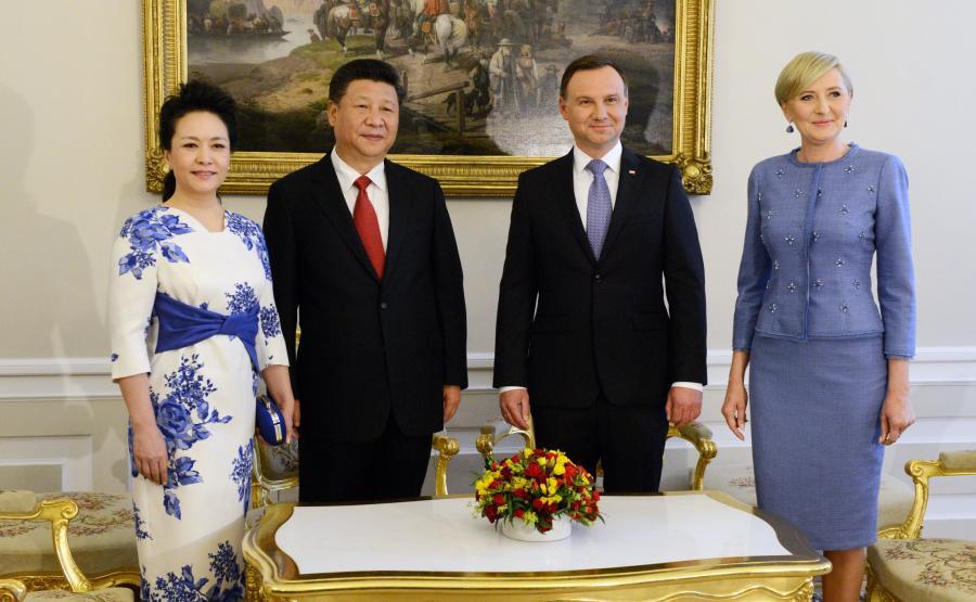Prezydenci Chin i Polski wraz z małżonkami